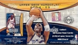 2002/03 Upper Deck Hardcourt Basketball Hobby Box