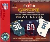 2002 Fleer Genuine Football Hobby Box