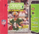 2002 Topps Stadium Club Relic Edition Football Jumbo Box