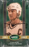 2002/03 Be A Player Parkhurst Hockey Hobby Box