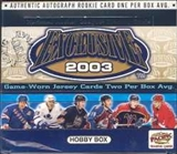 2002/03 Pacific Exclusive Hockey Hobby Box