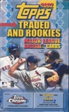 2002 Topps Chrome Traded & Rookies Baseball 24 Pack Box