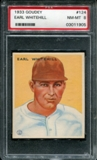 1933 Goudey Baseball #124 Earl Whitehill PSA 8 (NM-MT) *1905