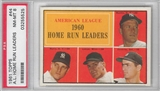 1961 Topps Baseball A.L. Home Run Leaders (Mickey Mantle) PSA 8 (NM-MT) *5525