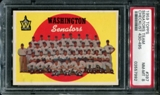 1959 Topps Baseball #397 Washington Senators Team PSA 8 (NM-MT) *7992
