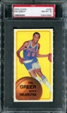 1970/71 Topps Basketball #155 Hal Greer PSA 8 (NM-MT) *3984