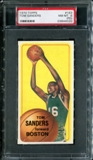 1970/71 Topps Basketball #163 Tom Sanders PSA 8 (NM-MT) (PD) *4020