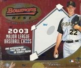 2003 Bowman's Best Baseball Hobby Box