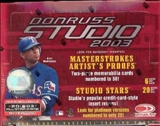 2003 Donruss Studio Baseball Hobby Box