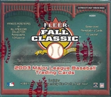 2003 Fleer Fall Classics Baseball Hobby Box
