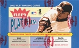 2003 Fleer Platinum Baseball Hobby Box