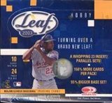 2003 Leaf Baseball Hobby Box