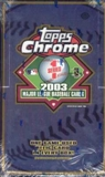 2003 Topps Chrome Series 1 Baseball Hobby Box