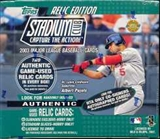 2003 Topps Stadium Club Baseball Jumbo Box