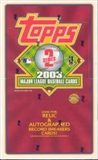 2003 Topps Series 2 Baseball Jumbo Box