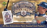 2003 Upper Deck Patch Collection Baseball Hobby Box