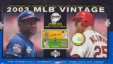 2003 Upper Deck Vintage Baseball Hobby Box