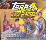 2003/04 Topps Jersey Edition Basketball Hobby Box