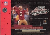 2003 Playoff Absolute Memorabilia Football Hobby Box