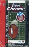 2003 Topps Chrome Football Hobby Box
