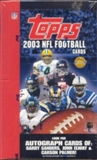 2003 Topps Football Jumbo Box