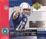 2003 Upper Deck Finite Football Hobby Box