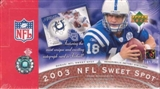 2003 Upper Deck Sweet Spot Football Hobby Box