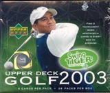 2003 Upper Deck Golf Hobby Box