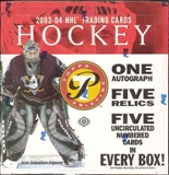 2003/04 Topps Pristine Hockey Hobby Box