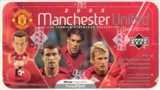 2003 Upper Deck Manchester United Playmaker Soccer Hobby Box