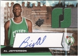 2004/05 SPx Throwback #134 Al Jefferson RC Auto Jersey