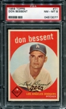 1959 Topps Baseball #71 Don Bessent PSA 8 (NM-MT) *3077