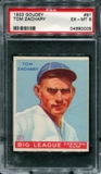 1933 Goudey Baseball #91 Tom Zachary PSA 6 (EX-MT) *0005