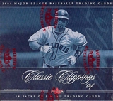 2004 Fleer Classic Clippings Baseball Hobby Box