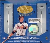 2004 Leaf Certified Materials Baseball Hobby Box