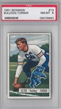 1951 Bowman Football Bulldog Turner PSA 8 (NM-MT) *9883