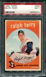 1959 Topps Baseball #358 Ralph Terry PSA 7 (NM) *9274