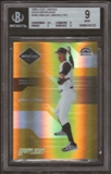 2005 Leaf Limited Gold Spotlight #198 Ubaldo Jimenez Phenoms 12/25 BGS 9 Mint