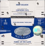 2005 Leaf Certified Materials Baseball Hobby Box