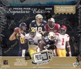 2005 Press Pass Signature Edition Football Hobby Box