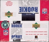 2005 Upper Deck Rookie Debut Football 28-Pack Box