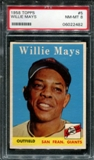 1958 Topps Baseball #5 Willie Mays PSA 8 (NM-MT) *2482