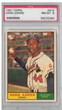 1961 Topps Baseball #415 Hank Aaron PSA 8 (NM-MT) *0284
