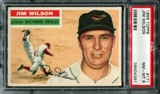 1956 Topps Baseball #171 Jim Wilson PSA 8 (NM-MT) *4261
