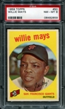 1959 Topps Baseball #50 Willie Mays PSA 8 (NM-MT) *2659
