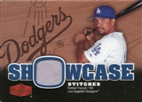 2006 Flair Showcase Showcase Stitches Jersey #RF Rafael Furcal