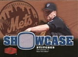 2006 Flair Showcase Stitches #TG Tom Glavine Jsy