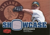 2006 Flair Showcase Stitches #RI Rich Harden Jsy