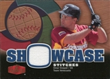 2006 Flair Showcase Showcase Stitches Jersey #OV Omar Vizquel
