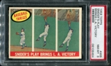 1959 Topps Baseball #468 Duke Snider's Play Brings L.A. Victory PSA 8 (NM-MT) *8484